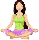 Asian Yogi Girl Royalty Free Stock Image