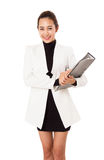 Asian Young attractive business woman with documents. Stock Photos