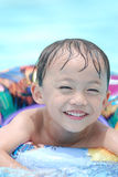 Asian young boy. Activity on  the beach Royalty Free Stock Photos