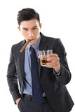 Asian young business guy Royalty Free Stock Photos