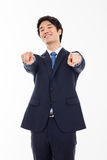 Asian young business indicated you. Stock Photo
