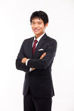 Asian young business man stock image