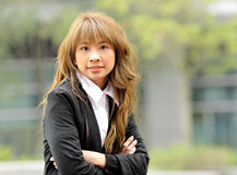 Asian young business woman Stock Photo
