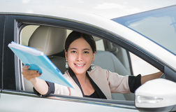 Asian young businesswoman Royalty Free Stock Image