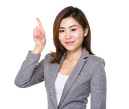 Asian Young Businesswoman with finger up Stock Photography