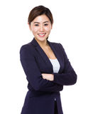 Asian young businesswoman. Isolated on white background Royalty Free Stock Photography