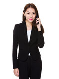 Asian Young Businesswoman make a call Royalty Free Stock Photo