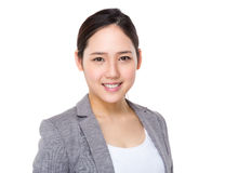 Asian young businesswoman portrait. Isolated on white background Stock Image