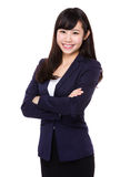 Asian Young Businesswoman portrait. Isolated on white background Stock Photo