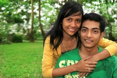 Asian young couple. Photograph of asian young couple stock image