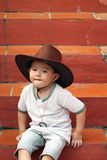 Asian Young Cowboy Royalty Free Stock Images