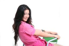 Asian young cute young woman Royalty Free Stock Images