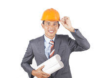 Asian young engineer Stock Image