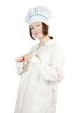 Asian young female cook Stock Image