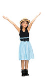 Asian young girl hand up in the air Stock Images