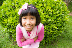 Asian young girl smiling Royalty Free Stock Photos