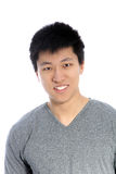 Asian young happy man smiling, portrait Royalty Free Stock Photography