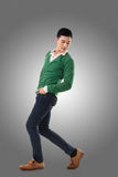 Asian young man dance Royalty Free Stock Images