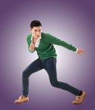 Asian young man dance Stock Photo