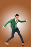 Asian young man dance Royalty Free Stock Photo