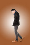 Asian young man feel cold Royalty Free Stock Photos