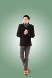 Asian young man feel cold Stock Images