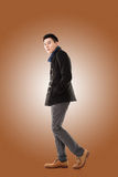 Asian young man feel cold Royalty Free Stock Photo