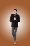 Asian young man feel cold Royalty Free Stock Images