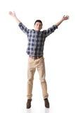 Asian young man jumping Royalty Free Stock Image
