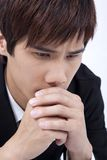 Asian young man praying Stock Image