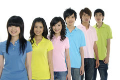 Asian Young students Stock Photo