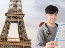 Asian young traveler Stock Image