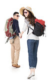 Asian young traveling couple Royalty Free Stock Photos