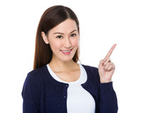 Asian Young woman got an idea Royalty Free Stock Image
