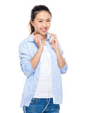 Asian young woman with headphone Stock Photo