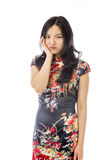 Asian young woman looking bored Royalty Free Stock Photos