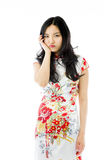 Asian young woman looking bored Stock Photography
