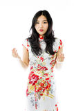 Asian young woman looking shocked Royalty Free Stock Image