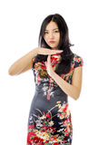 Asian young woman showing timeout signal Stock Photos