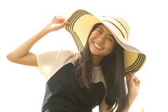 Asian young  woman smiling and happiness. . Stock Photography