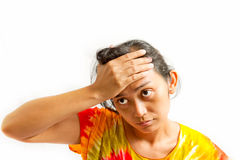 Asian young woman stress Stock Images