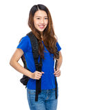 Asian young woman student Stock Photo
