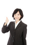 Asian young woman thumbs up Royalty Free Stock Image