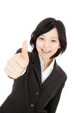 Asian young woman thumbs up Royalty Free Stock Images