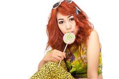 Asian young women cute Royalty Free Stock Photo