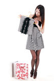 Asian young women shopping Stock Images