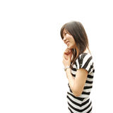 Asian zebra girl Royalty Free Stock Images