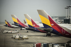 ASIANA AIRLINES - AÉROPORT INTERNATIONAL D'INCHEON, S image stock