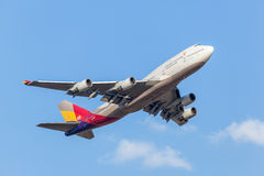 Asiana Airlines Boeing 747-400 Fotografia Stock