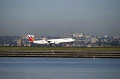 Asiana Airlines de Corée débarque à l'aéroport de Kingston_Smith, Sydney Image libre de droits